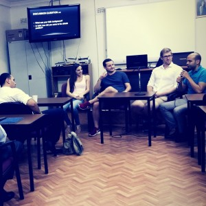 A student lead discussion during a recent Apologetics unit taught by Fr Antonios Kaldas